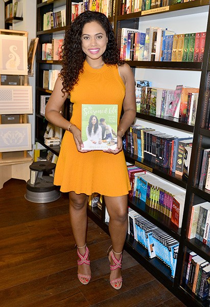 """BAL HARBOUR, FL - OCTOBER 02: Ayesha Curry sign copies of her first cookbook,""""The Seasoned Life: Food, Family, Faith and the Joy of Eating Well"""" at Books & Books - Bal Harbour on Friday, October 2, 2016 in Coral Gables, Florida. ( Photo by Johnny Louis / jlnphotography.com )"""