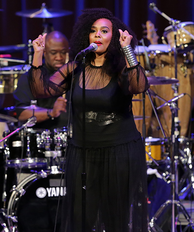 MIAMI, FL - FEBRUARY 5: Ashleigh Smith, winner of the third annual Sarah Vaughan International Vocal Competition performs onstage during opening act for Patti Labelle Jazz Roots Series at The Adrienne Arsht Center on Friday February 5, 2016 in Miami,Florida. ( Photo by Johnny Louis / jlnphotography.com )