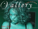 On the cover of Vallery magazine