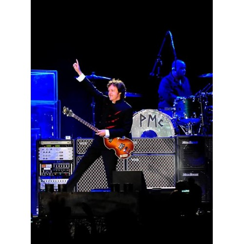 Paul McCartney perform to a near capacity crowd at Sun Life Stadium in Miami