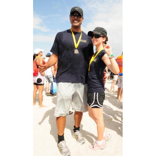 Eliza Dushku & Rick Fox compete in the 3rd annual Nautica South Beach Triathlon