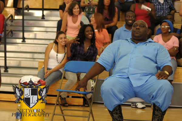 Actor Langston Faizon Santisima (aka) Faizon Love on the movie set of 'Cookout 2' photo by:Johnny Louis/ jlnphotography.com