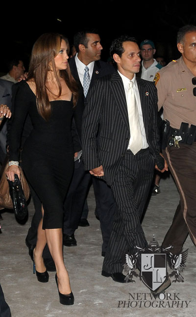 Jennifer Lopez and Marc Anthony living the stadium after the Dolphin loss during Monday night football season home game opener Dolphins vs. Colts at Land Shark stadium photo by: Johnny Louis/ jlnphotography.com