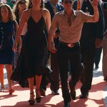 Jennifer Lopez & Marc Anthony walking THE ORANGE CARPET during the  DOLPHINS VS. SAINTS game