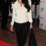 Kim Kardashian at the Orange Carpet during the DOLPHINS VS. SAINTS game