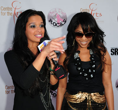 Rocsi and Trina at the pink carpet arrival| photo by: Johnny Louis/ jlnphotography.com
