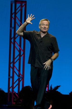 "Robin Williams' live during his """"Weapons of Self-Destruction"" comedy tour"